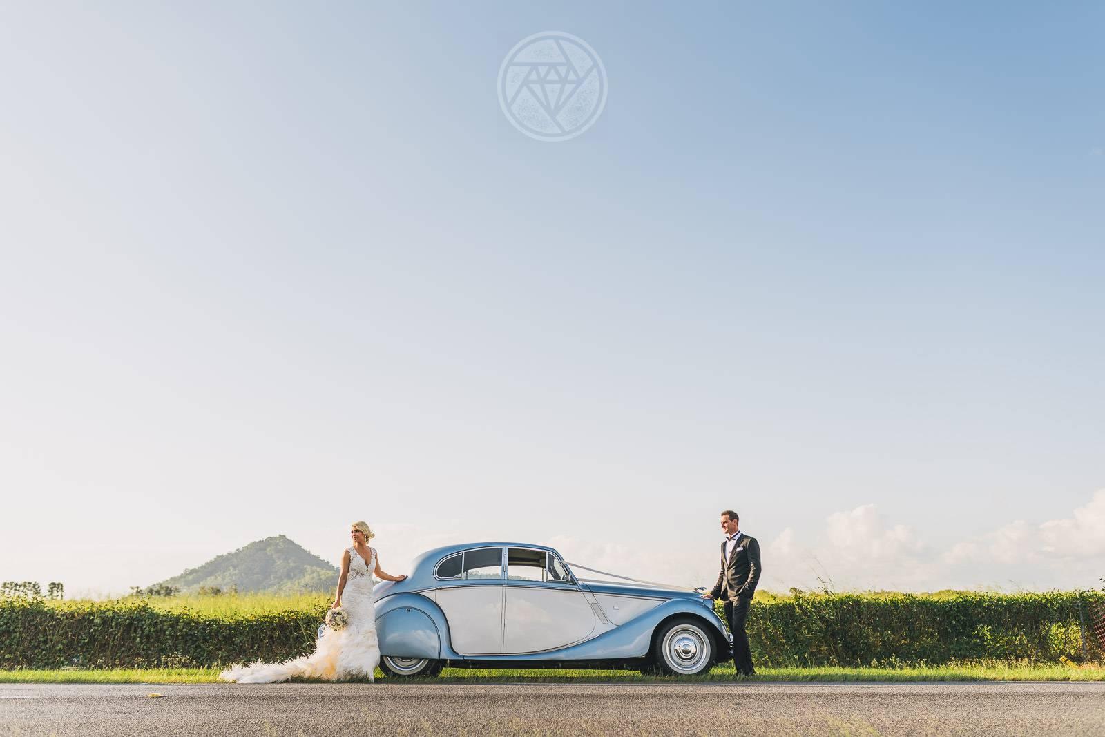 Vintage Wedding car Palm Cove