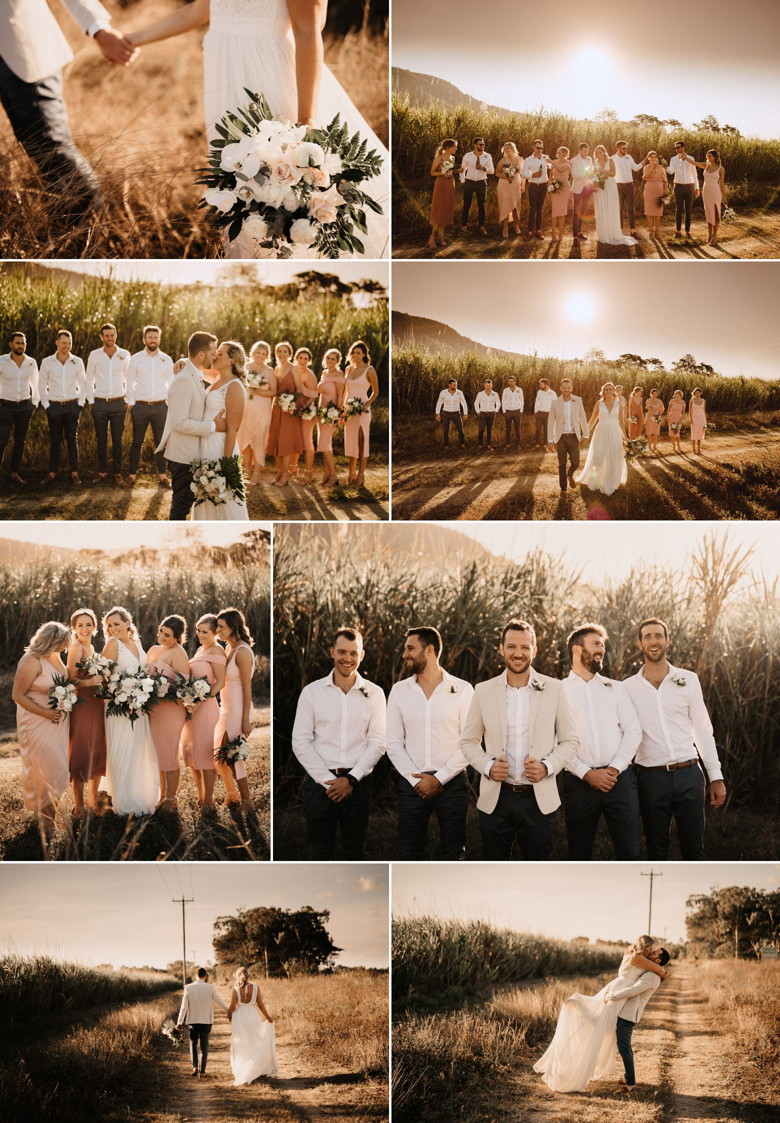 warm toned port douglas wedding photos